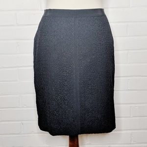 Ann Taylor Black Lace Pencil Skirt Career Size 0